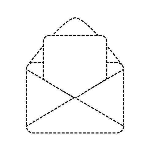 mensaje de tarjeta de forma punteada con la información del documento carta