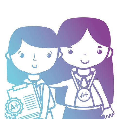 professor de linha com o aluno para aula de educação de classe