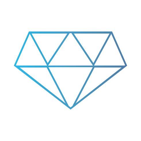 lijn schattig diamant elegant accessoireontwerp