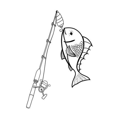 Línea de carrete de espinaca captura la comida de pescado