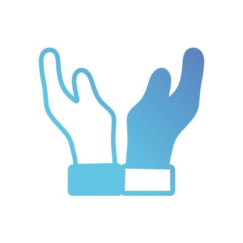 linea mani umane con le dita