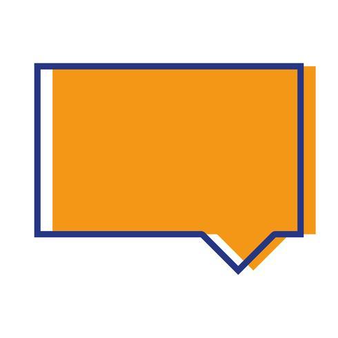 Farb-Chat-Sprechblase merkt sich Textnachricht