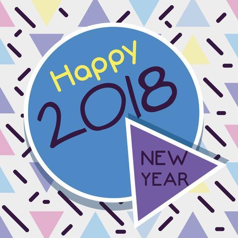 felice anno nuovo sul design backgroun colore