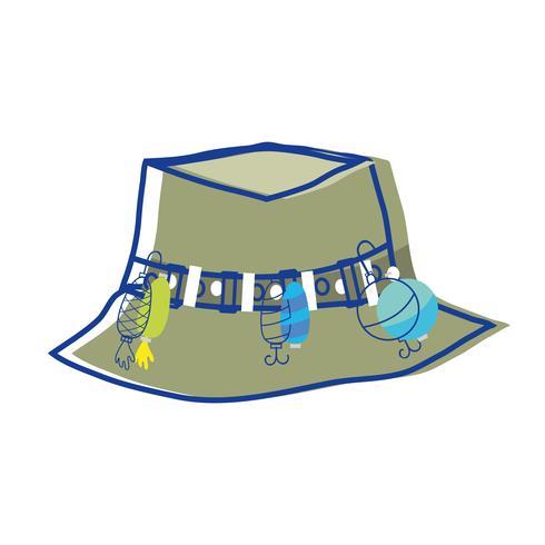 objeto de chapéu de camponês de pesca, para warker