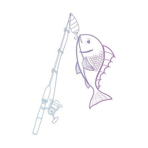 la bobina di spincash di linea cattura il cibo per pesci