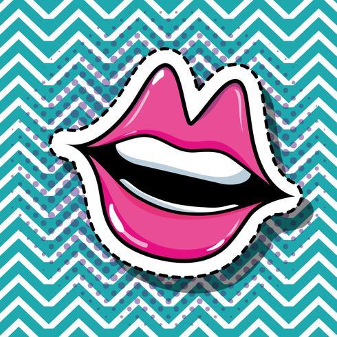 conception de patch bouche pop art