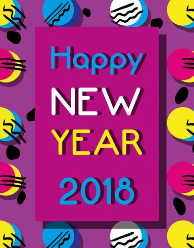 feliz año nuevo sobre diseño de fondo de color