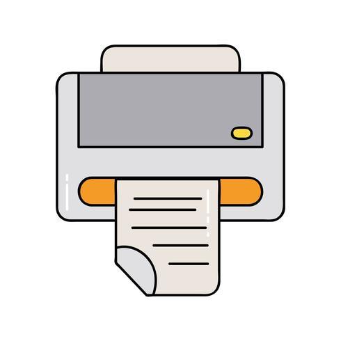 printer machine technologie met bedrijfsdocument