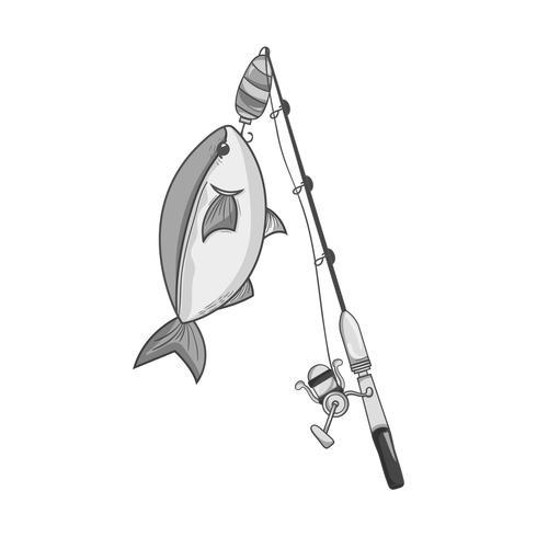 carretel de spincash em tons de cinza pegar o alimento de peixe