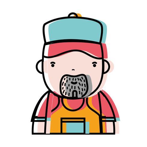 man plumber job to service repair vector