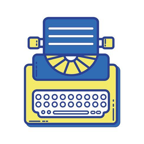 retro typemachine apparatuur met bedrijfsdocument