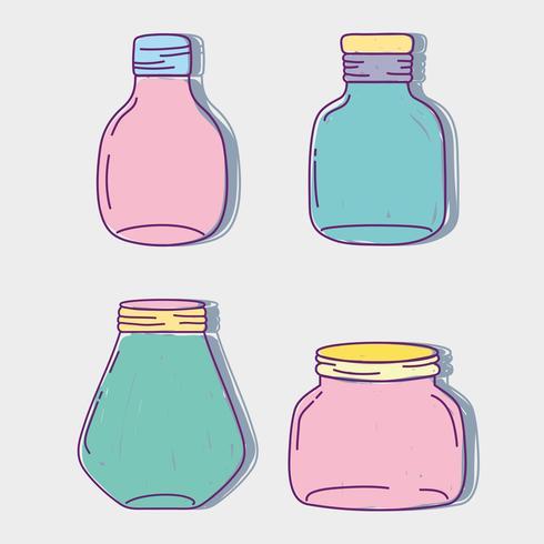 set barattolo in vetro con forme diverse