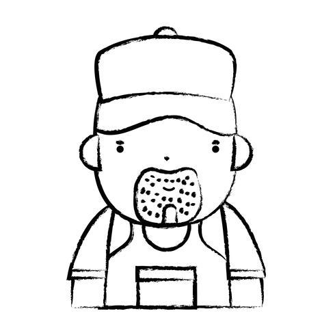 figura uomo idraulico lavoro per riparare la riparazione