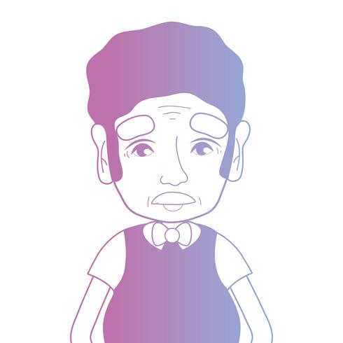 linea avatar uomo con acconciatura e t-shirt