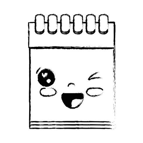 figur kawaii söt rolig anteckningsbok verktyg