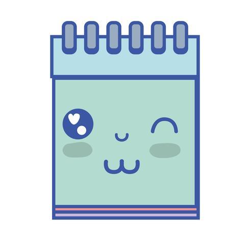 kawaii söt rolig anteckningsbok verktyg
