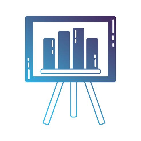Silhouette Strategie Präsentation mit Statistik Grafikleiste