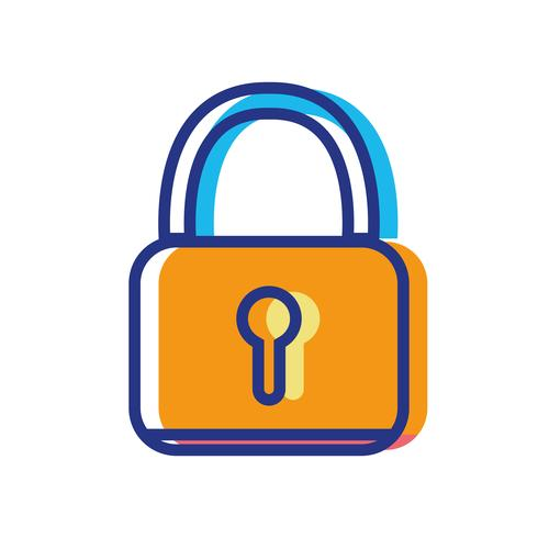 padlock security protection object to privacy information