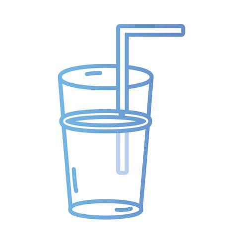 Linie köstlicher Smoothie trinkt Getränk