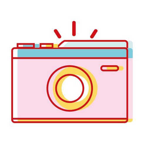 Cámara digital para tomar una foto de arte. vector