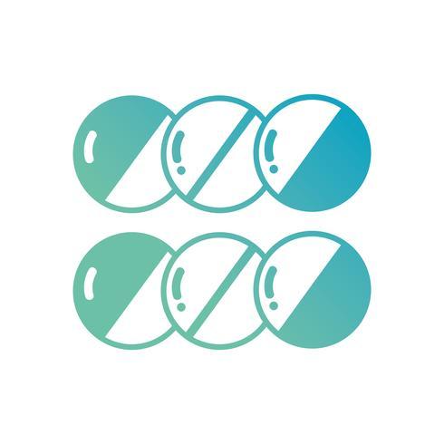 ligne capsules de pilules pharmaceutiques pharmaceutiques