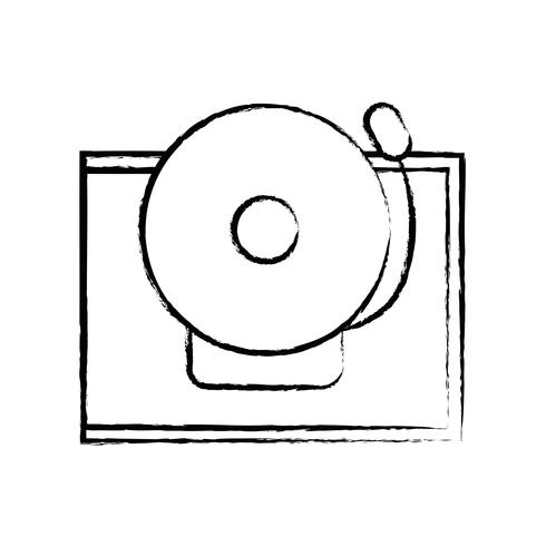 figuur school bel alert object ontwerp