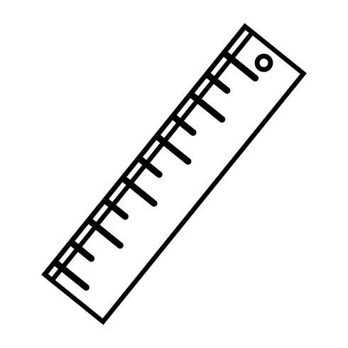 line ruler design to school tool education vector