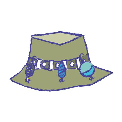 pescador objeto de sombrero campesino, a warker