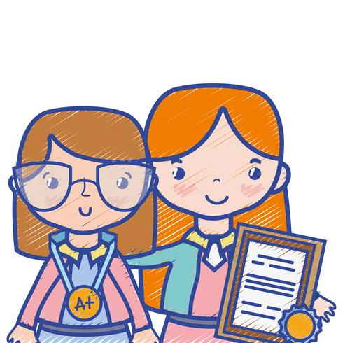 insegnante con studente per lezione di educazione in classe