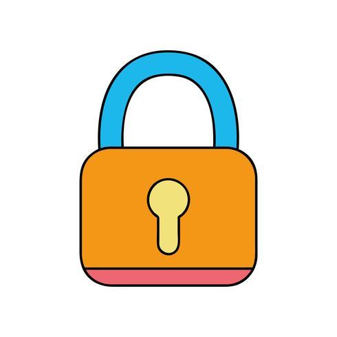 lucchetto oggetto di protezione di sicurezza alle informazioni sulla privacy