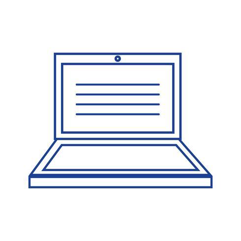 tecnologia elettronica portatile silhouette con design dello schermo