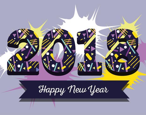 feliz ano novo figuras backgrund design
