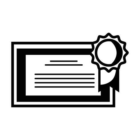 Kontur Diplom-Zertifikat mit Holzrahmen-Design