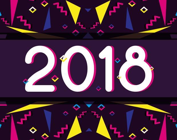 Frohes neues Jahr Zahlen backgrund Design