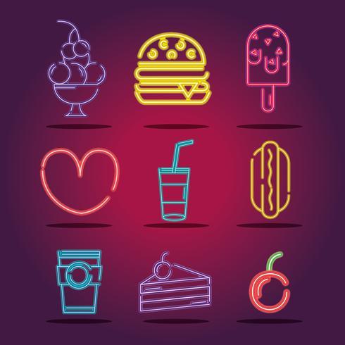 impostare la decorazione di icone al neon commerciale aziendale