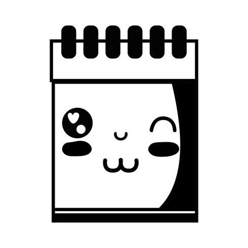 contour kawaii cute funny notebook tool