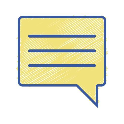 mensagem de texto de notas de bolha de bate-papo de cor
