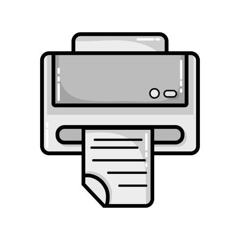 Graustufendrucker-Maschinentechnologie mit Geschäftsdokument