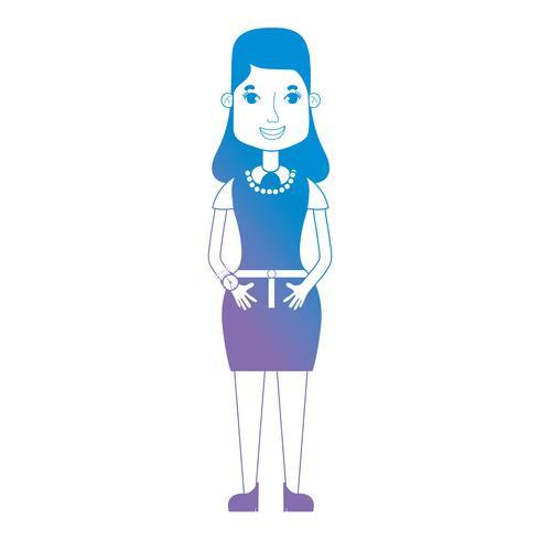 linea avatar donna con acconciatura e vestiti