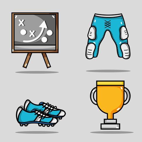 poner los elementos del fútbol americano a la competencia