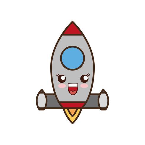Weltraumrakete-Symbol vektor