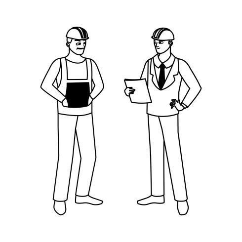 construtor de construtor com caracteres de engenheiro vetor