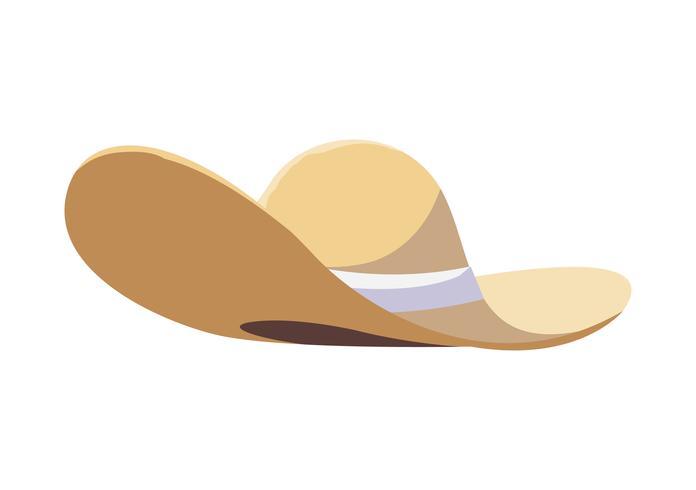 icona accessorio cappello di paglia estate