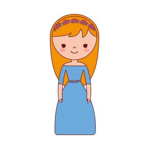 tecknad kvinna ikon