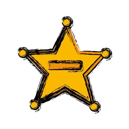 icona stella sceriffo