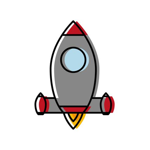ícone de foguete espacial
