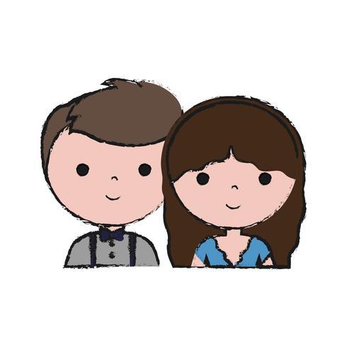 casal de homem e mulher ícone