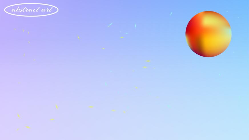Image de fond espace abstrait coloré flou