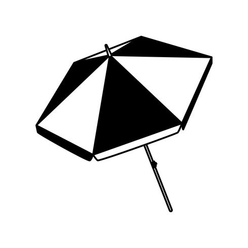 icône isolé de parapluie de plage d'été vecteur