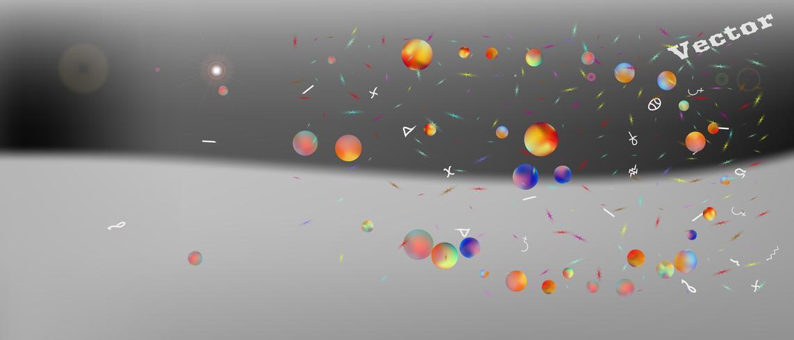 Creatieve abstracte ultra brede ruimteachtergrond